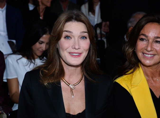 Carla Bruni-Sarkozy et Katia Toledano à Paris le 26 septembre 2014
