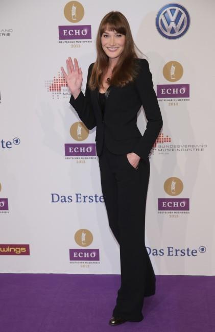 Carla Bruni lors des Echo Music Awards à Berlin, le 21 mars 2013.