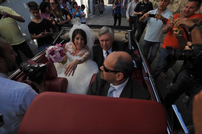Mariage de Katia Ancelotti, fille de Carlo Ancelotti, et de Mino Fulco, à Capoue le 5 juin 2014
