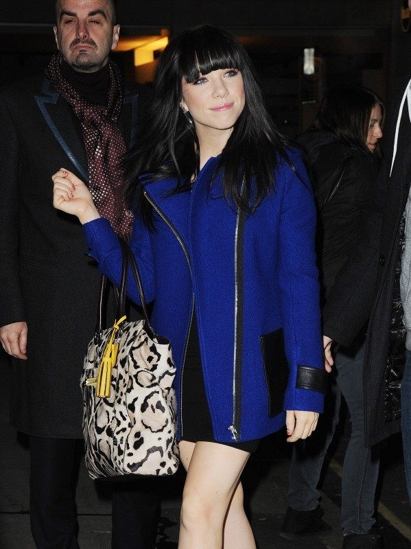 Carly Rae Jepsen, Londres, 11 décembre 2012.