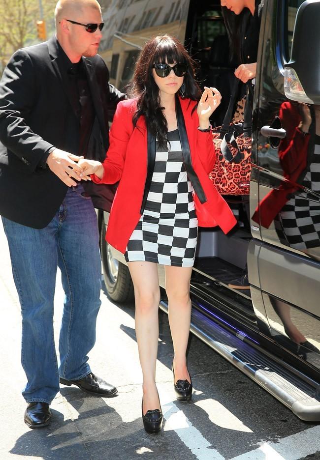 Carly Rae Jepsen à New-York le 2 mai 2013