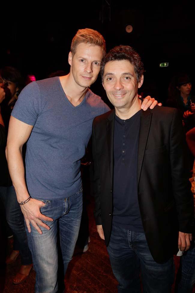 Matthieu Delormeau et Thierry Moreau au showcase de Sébastien Patoche le 1er juillet 2014
