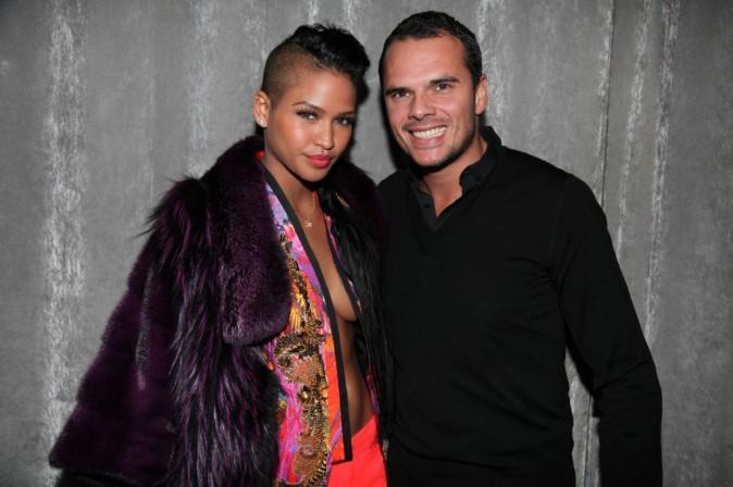 """Cassie et Logan Maggio (équipe de L'Arc Paris) lors de la soirée """"King of Heart"""" à Paris, le 5 mars 2012."""