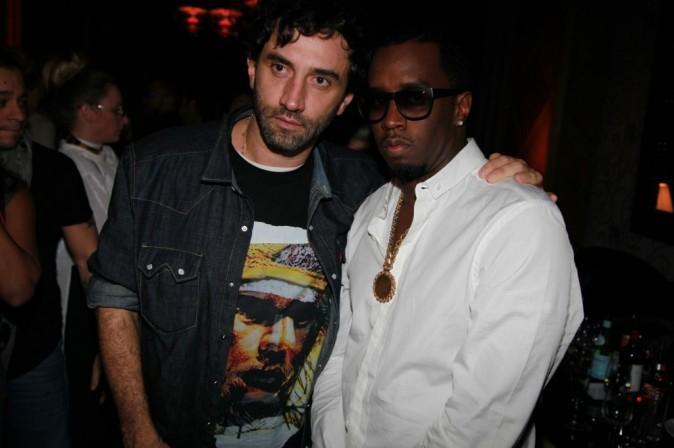 """Riccardo Tisci et P.Diddy lors de la soirée """"King of Heart"""" à Paris, le 5 mars 2012."""