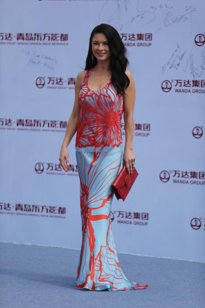 Catherine Zeta-Jones lors de l'inauguration de l'Oriental Movie Metropolis Ceremony en Chine, le 22 septembre 2013.