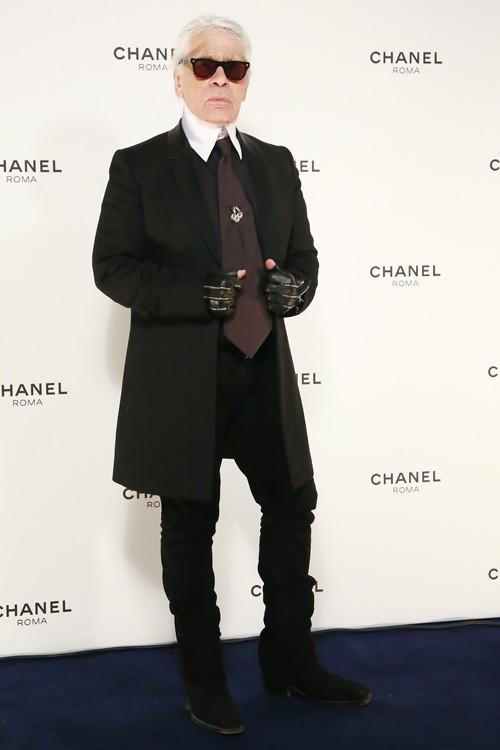 Karl Lagerfeld à Rome le 19 février 2015