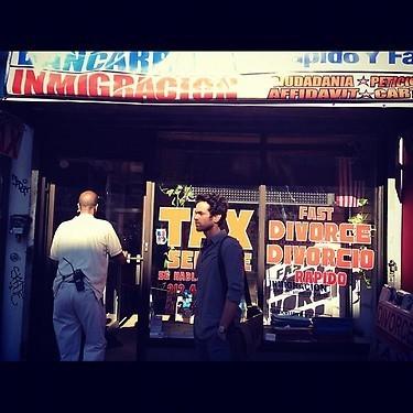 Romain dans les rue de New York