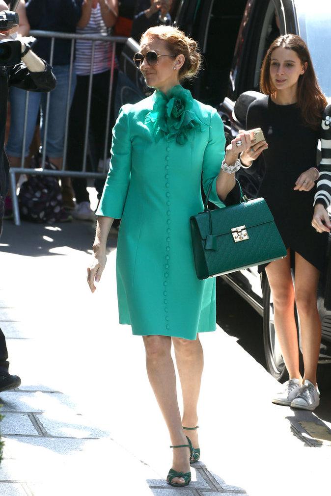 Céline Dion quitte son hôtel parisien le 6 juillet 2016