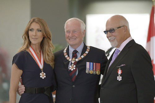 Céline et René distingués par le Canada en 2013