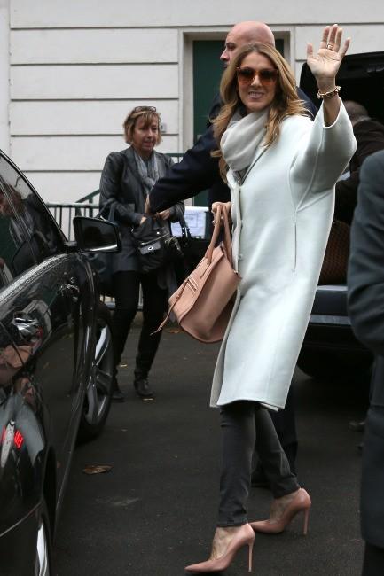 Céline Dion à Paris, le 27 novembre 2012.