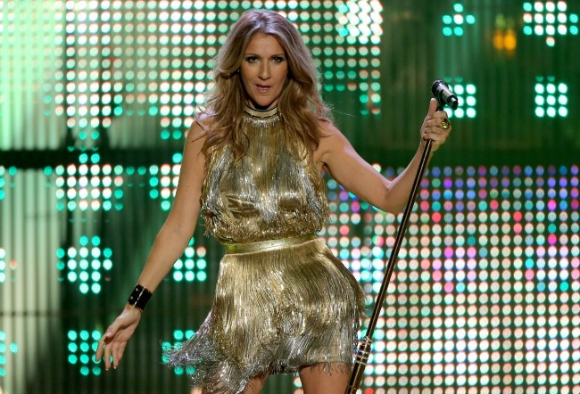 Céline Dion sur la scène des Bambi Media Awards, le 22 novembre 2012.
