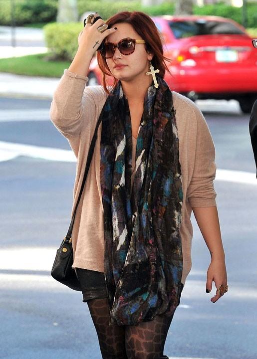 Demi Lovato, discrète...