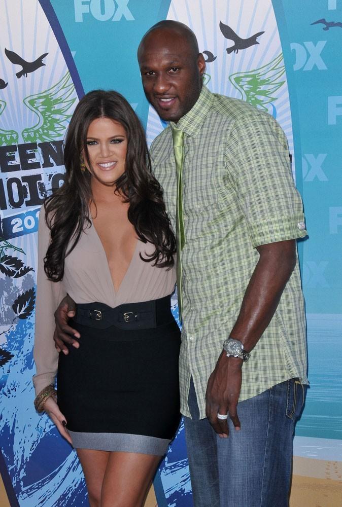 Khloé Kardashian et Lamar Odom en 2010