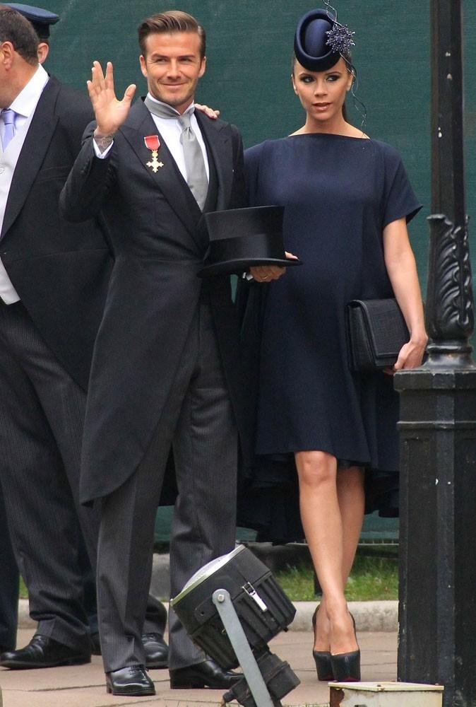 Victoria Beckham et David Beckham en 2011