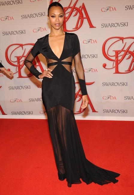Zoe Saldana lors des CFDA Fashion Awards à New York, le 4 juin 2012.