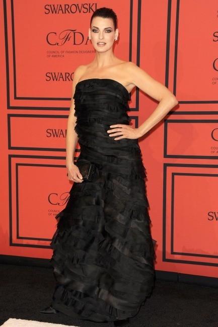 Linda Evangelista lors de la soirée des CFDA Fashion Awards à New York, le 3 juin 2013.