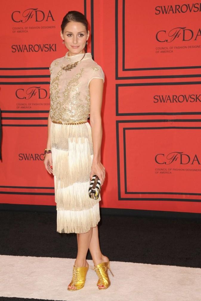 Olivia Palermo lors de la soirée des CFDA Fashion Awards à New York, le 3 juin 2013.