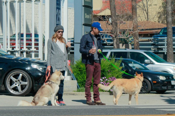 Chad Michael Murray avec sa femme Sarah Roemer à Studio City le 3 mars 2015