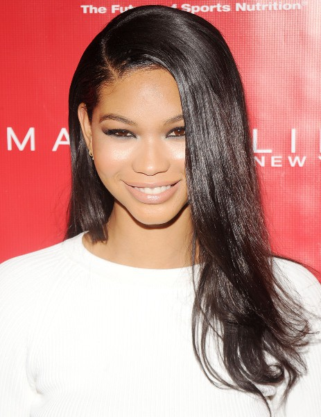"Chanel Iman lors de la soirée ""Shape & Men's Fitness Super Bowl Kickoff Party"" à New York, le 31 janvier 2014."