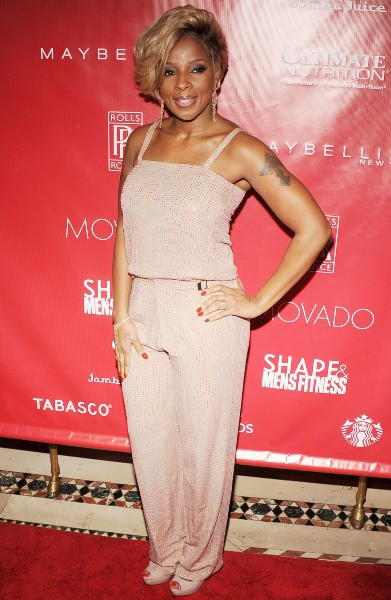 "Mary J. Blige lors de la soirée ""Shape & Men's Fitness Super Bowl Kickoff Party"" à New York, le 31 janvier 2014."
