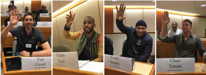 Channing Tatum, L.L. Cool J, Chris Paul et Pau Gasol invités de l'université Harvard Business School
