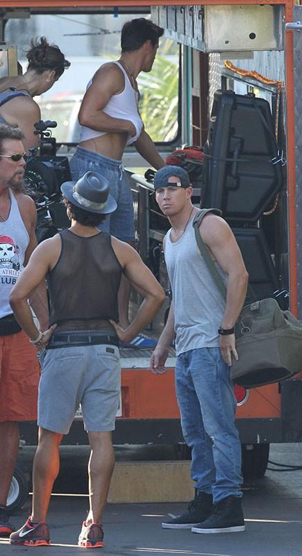 Channing Tatum, Joe Manganiello, Matt Bomer... : avalanche de testostérone sur le tournage de Magic Mike !