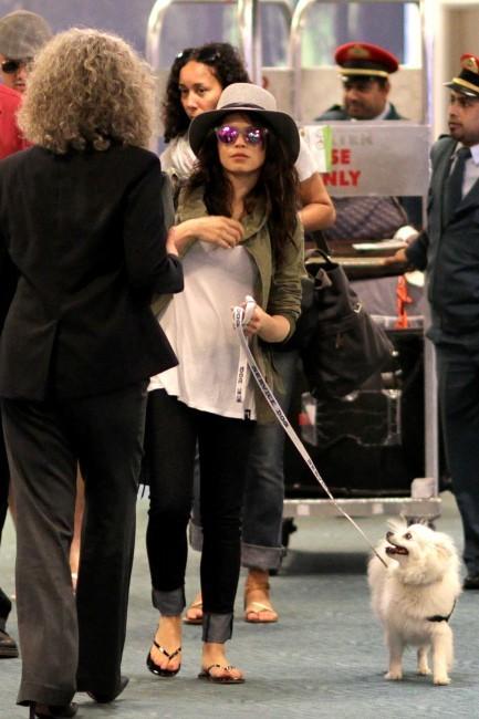 Jenna Dewan à l'aéroport de Los Angeles, le 7 juillet 2013.