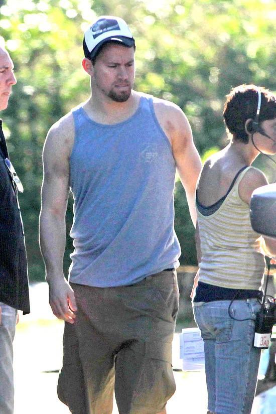 Channing Tatum sur le tournage de Witches of East End à Vancouver le 19 juillet 2013