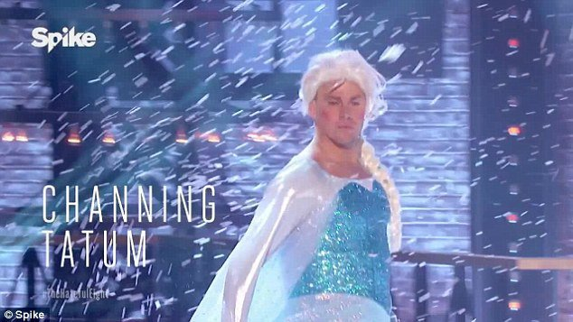 Photos : Channing Tatum transformé en Reine des neiges !