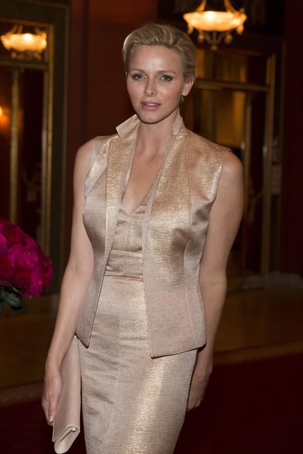 Charlène de Monaco au dîner de pre-mariage de la princesse Madeleine et Chris O'Neill à Stockholm le 7 juin 2013