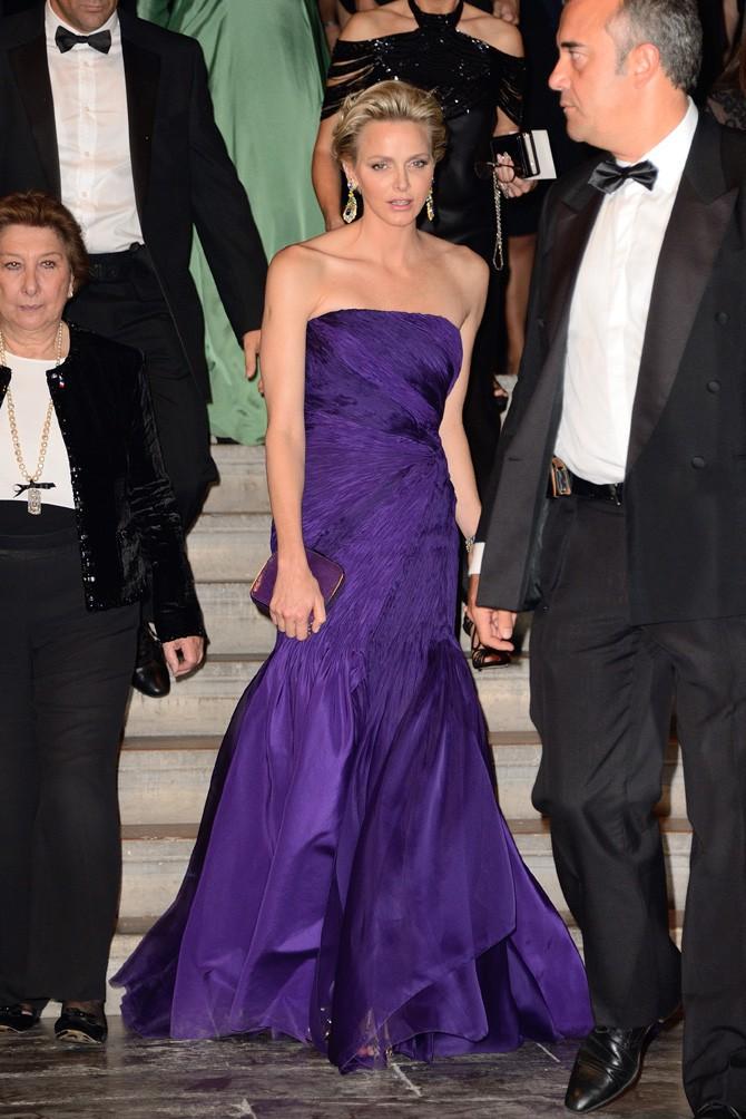 Charlene de Monaco au dîner Ralph Lauren organisé aux Beaux-Arts de Paris le 8 octobre 2013