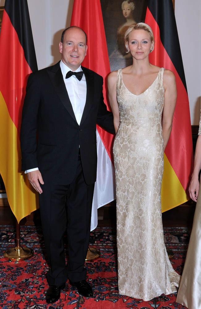 Charlene et Albert de Monaco le 9 juillet 2012 à Berlin