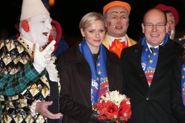 Albert et Charlene de Monaco, Monte Carlo, 17 janvier 2013.