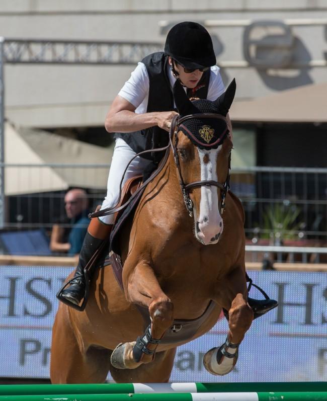 Guillaume Canet au concours de jumping le 28 juin 2013