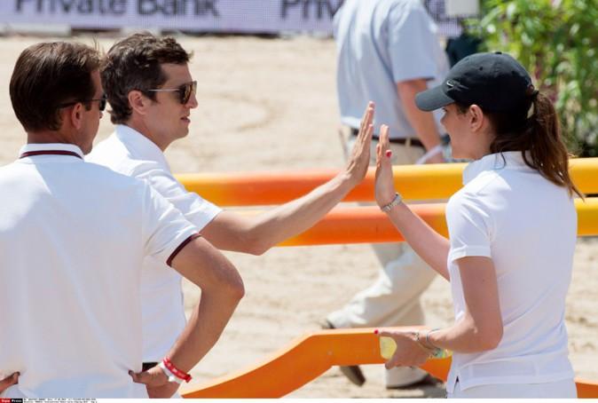Charlotte Casiraghi et Guillaume Canet à l'International Monte Carlo Jumping le 27 juin 2014