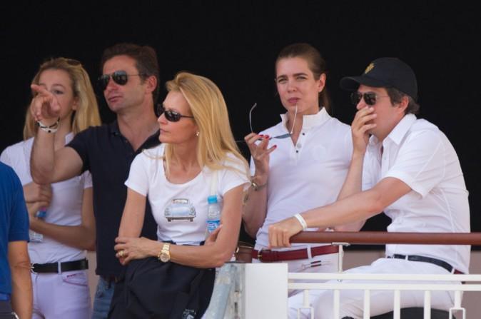 Charlotte Casiraghi et Guillaume Canet au Jumping de Cannes le 12 juin 2014
