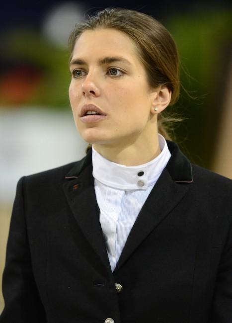 Charlotte Casiraghi en plein entraînement pour le Gucci Masters 2012, le 29 novembre à Villepinte.