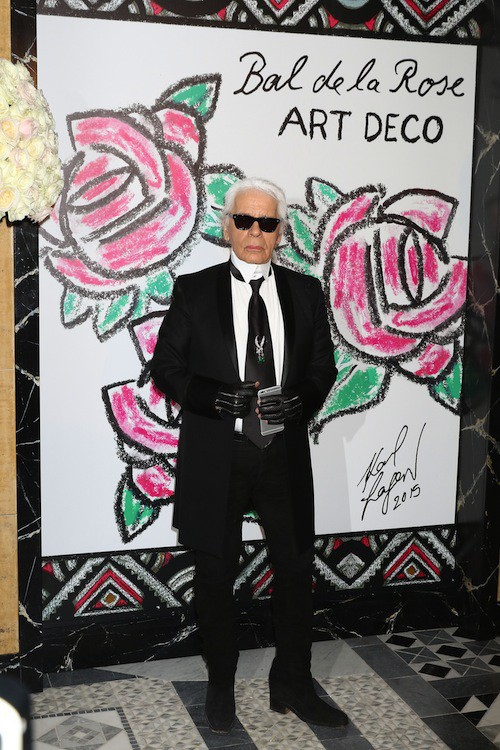 Karl Lagerfeld au 61ème Bal de la Rose à Monaco, le 28 mars 2015 !