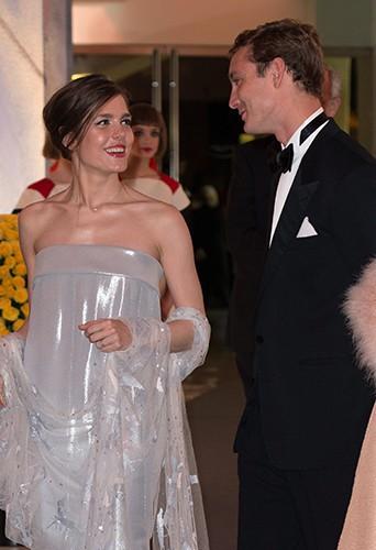 Charlotte Casiraghi aux côtés de son frère Pierre à Monaco le 29 mars 2014