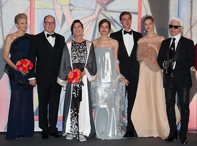 La famille royale à Monaco le 29 mars 2014