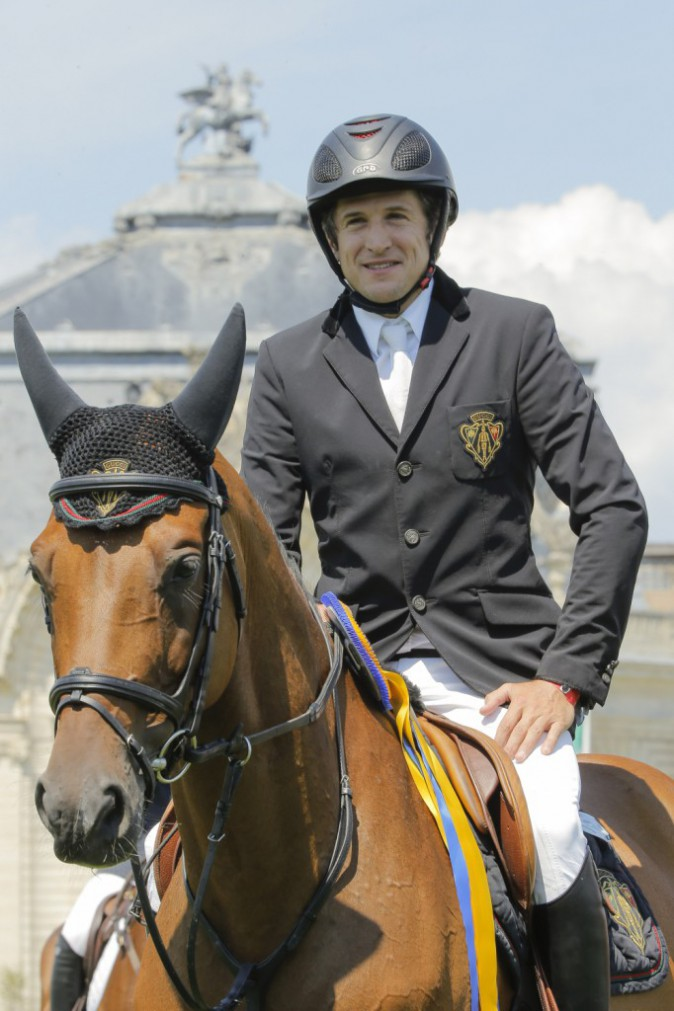 Guillaume Canet au Jumping de Chantilly le 25 juillet 2014