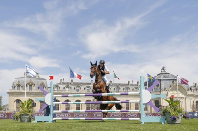 Guillaume Canet au Jumping de Chantilly le 25 juillet 2014