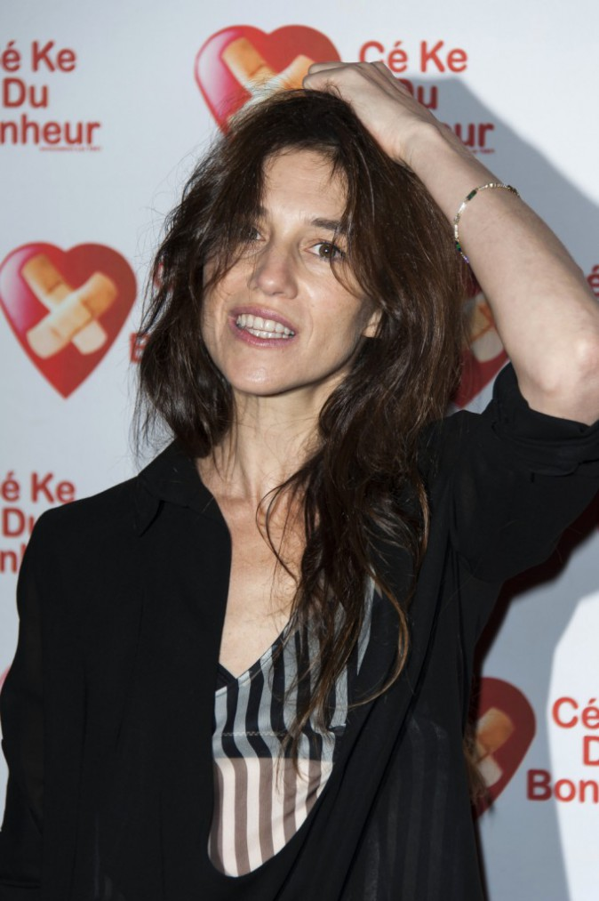 Charlotte Gainsbourg à Paris le 14 octobre 2014