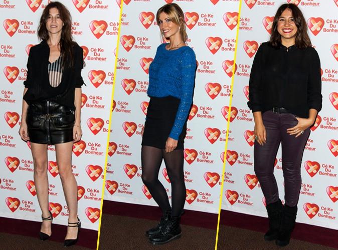 Charlotte Gainsbourg, Alexandra Rosenfeld et Izïa Higelin à Paris le 14 octobre 2014