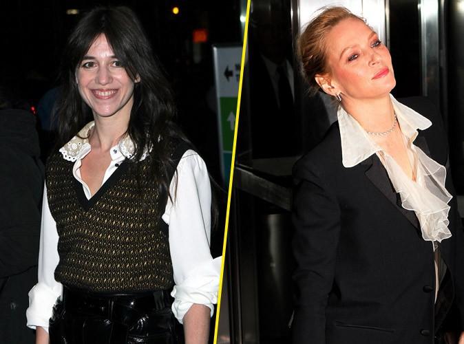 Charlotte Gainsbourg : timide et moins assurée qu'Uma Thurman à l'avant-première new-yorkaise de