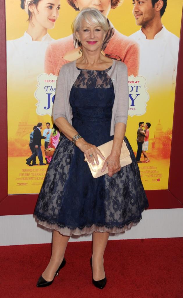 Helen Mirren à l'avant-première New Yorkaise de The Hundred-Foot Journey le 4 août 2014