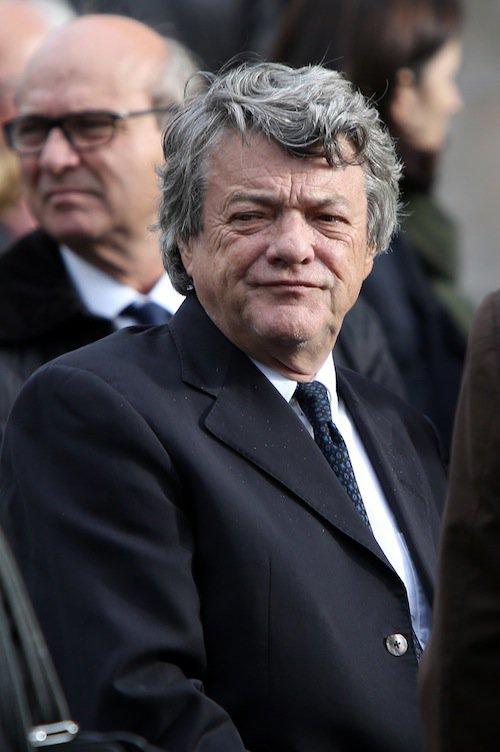 Jean-Louis Borloo aux obsèques de Jean-Noël Tassez à Paris, le 9 octobre 2015