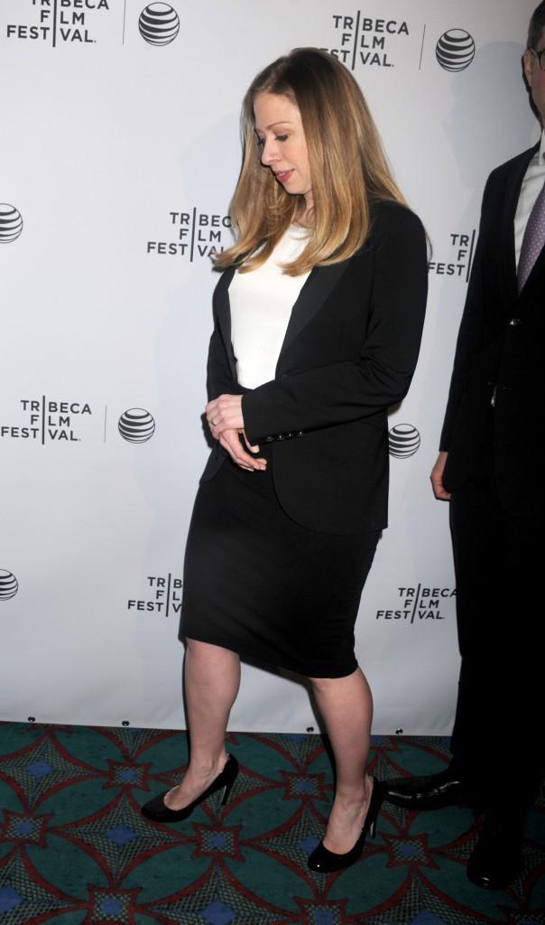 Chelsea Clinton lors du Festival du Film de Tribeca, le 17 avril 2014.