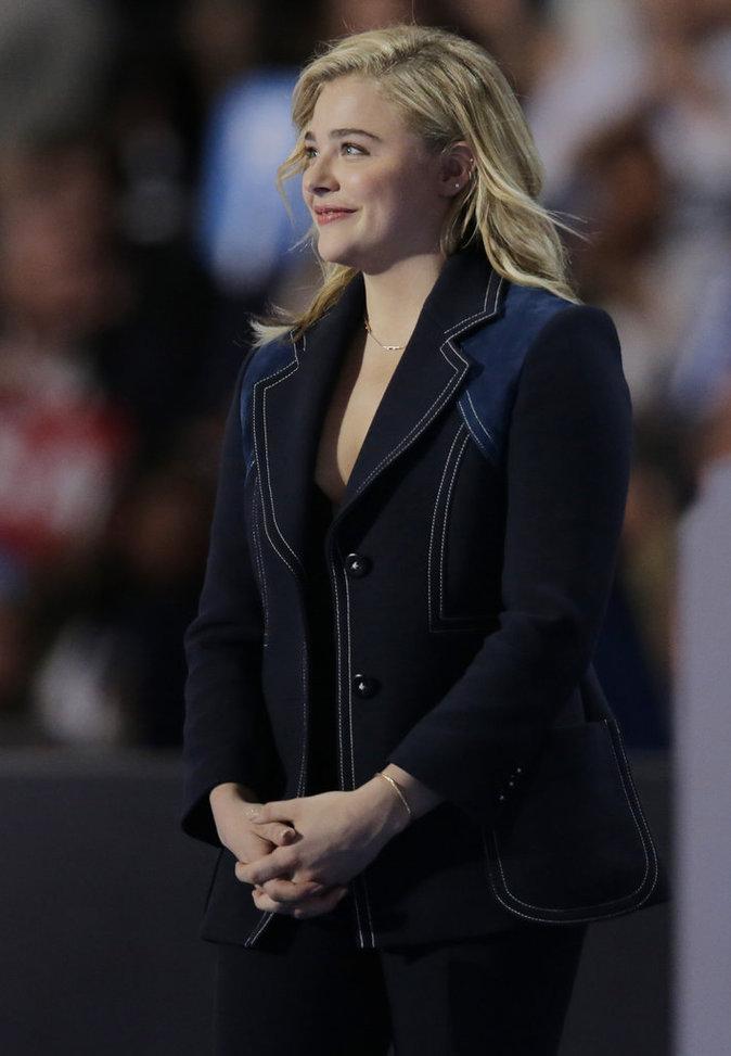 Chloë Grace Moretz à la Convention Démocrate le 28 juillet à Philadephie