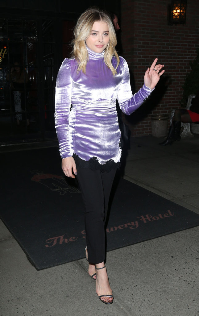Chloe Grace Moretz à la sortie de l'hôtel The Bowery à New York